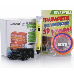 3D-ручка MYRIWELL RP-100B Yellow (ABS, PLA)